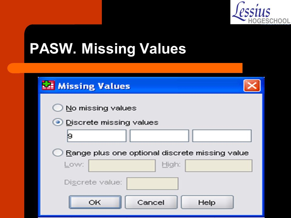 PASW. Missing Values