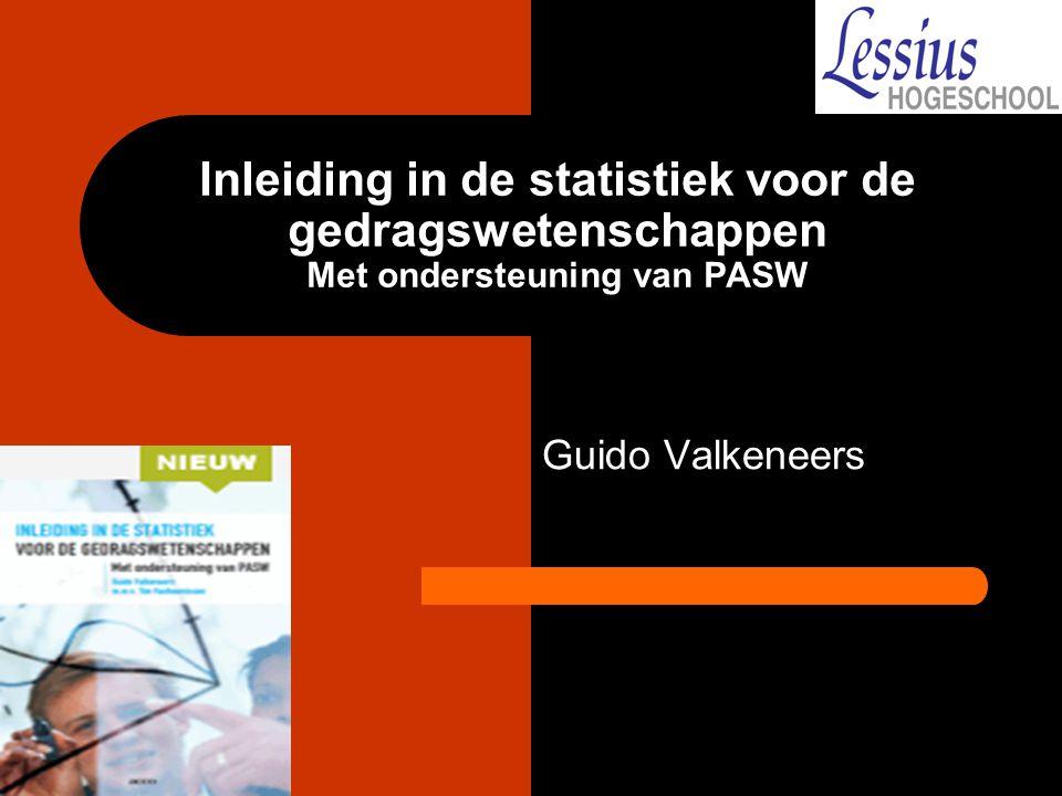 Inleiding in de statistiek voor de gedragswetenschappen Met ondersteuning van PASW