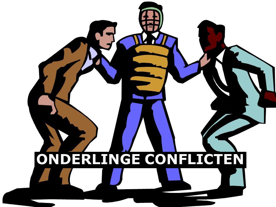 ONDERLINGE CONFLICTEN