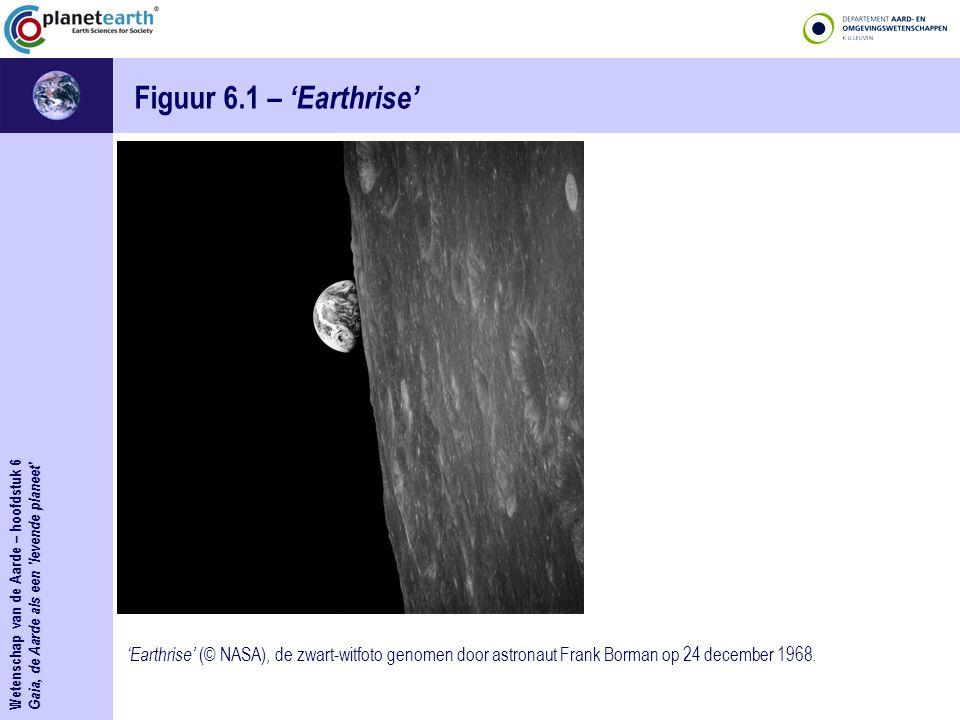 Figuur 6.1 – 'Earthrise' Wetenschap van de Aarde – hoofdstuk 6. Gaia, de Aarde als een levende planeet
