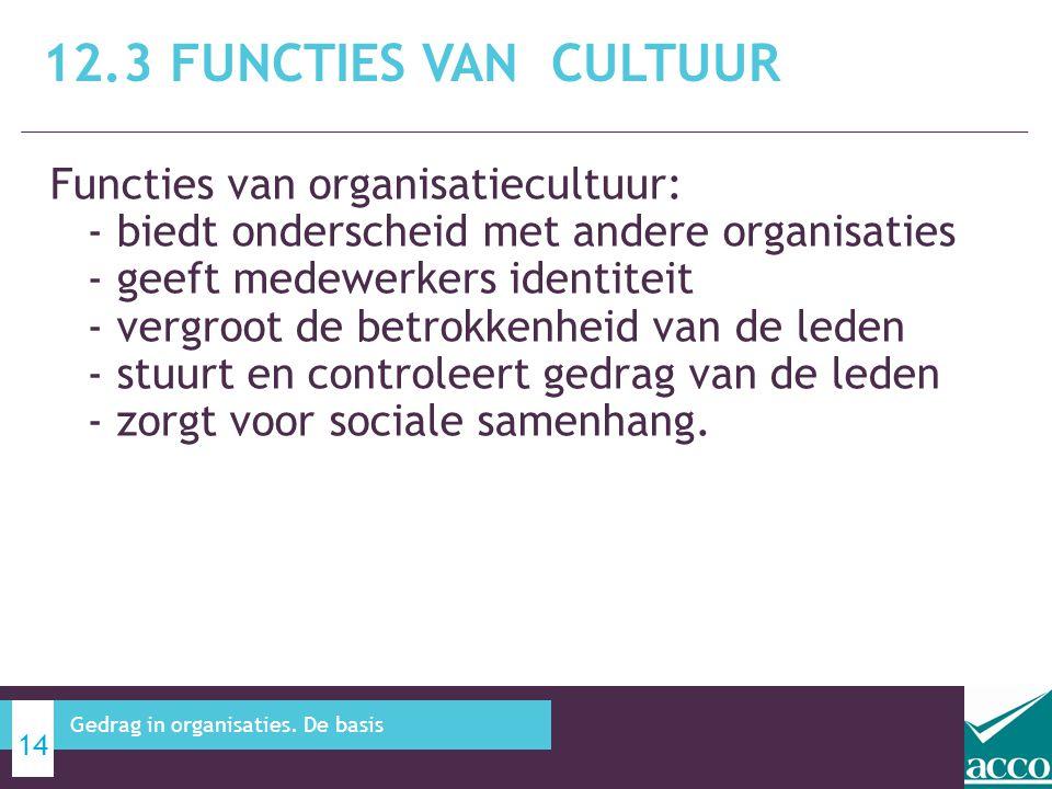 12.3 Functies van cultuur