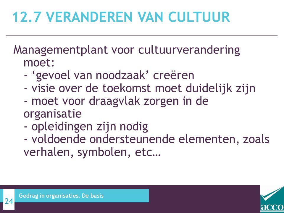 12.7 Veranderen van cultuur