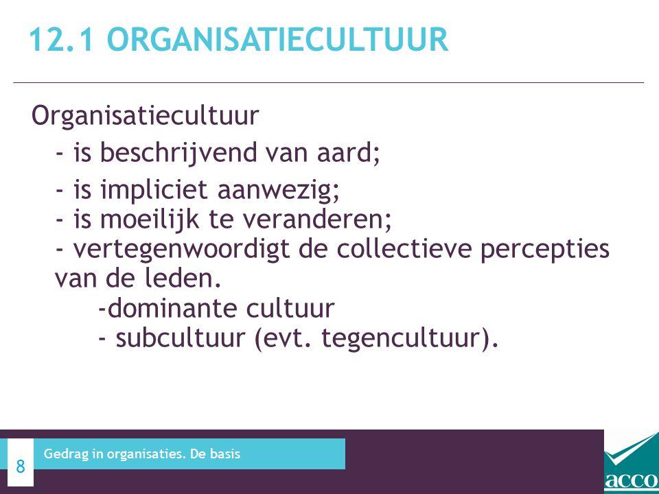 12.1 Organisatiecultuur