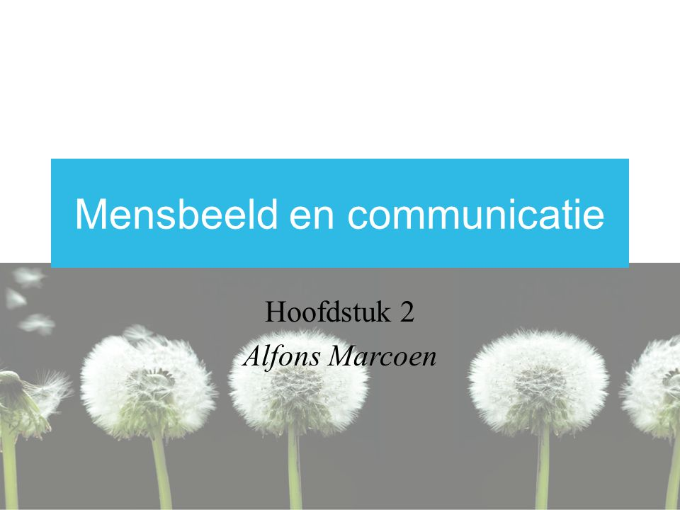 Mensbeeld en communicatie