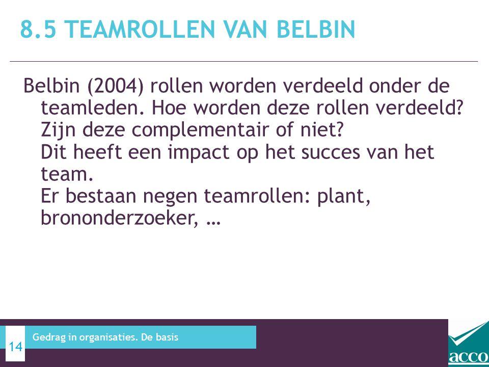 8.5 Teamrollen van Belbin