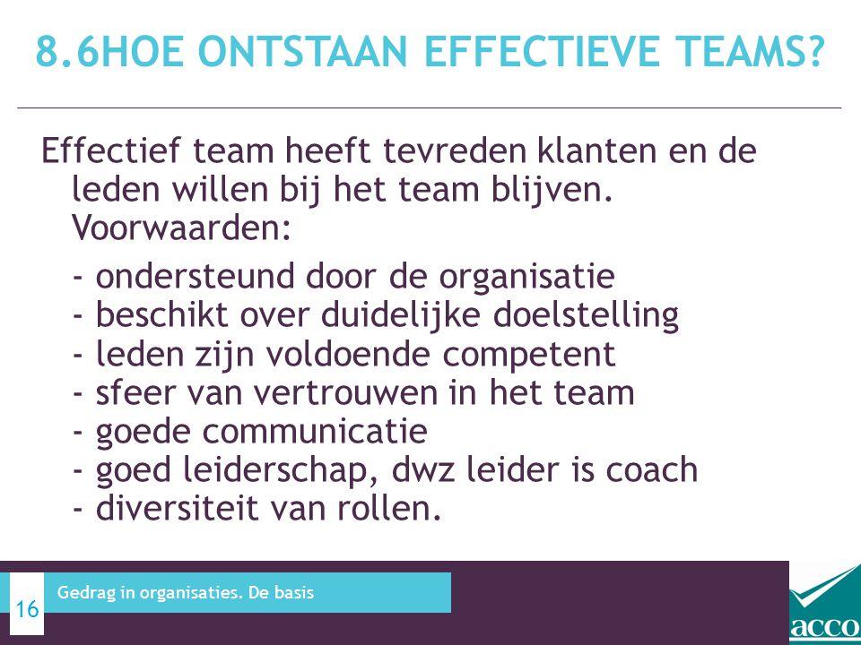 8.6Hoe ontstaan effectieve teams