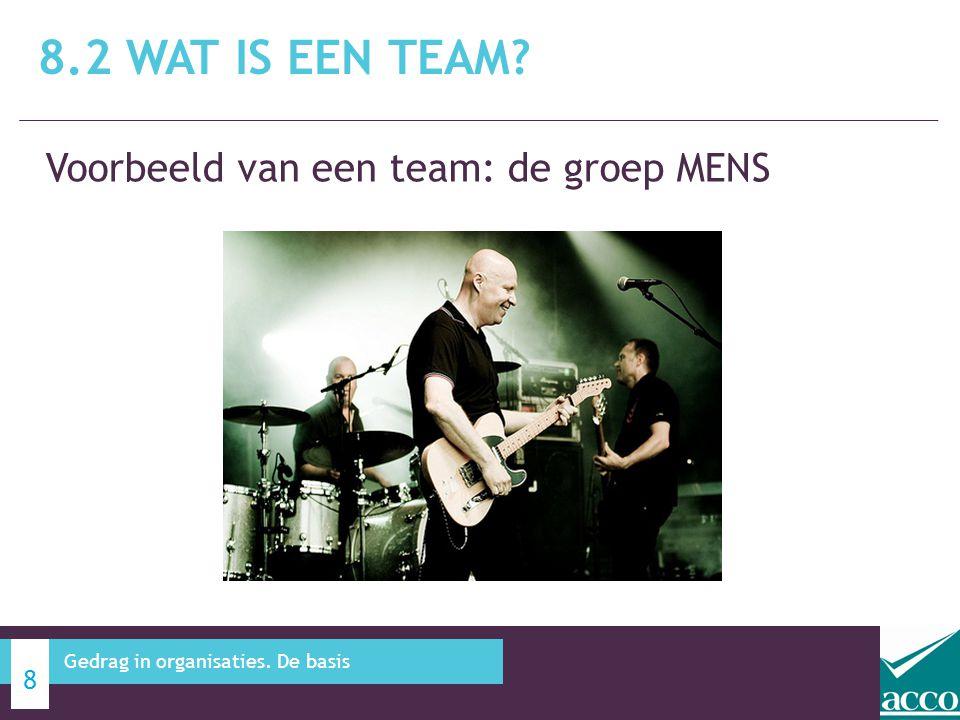 8.2 Wat is een team Voorbeeld van een team: de groep MENS