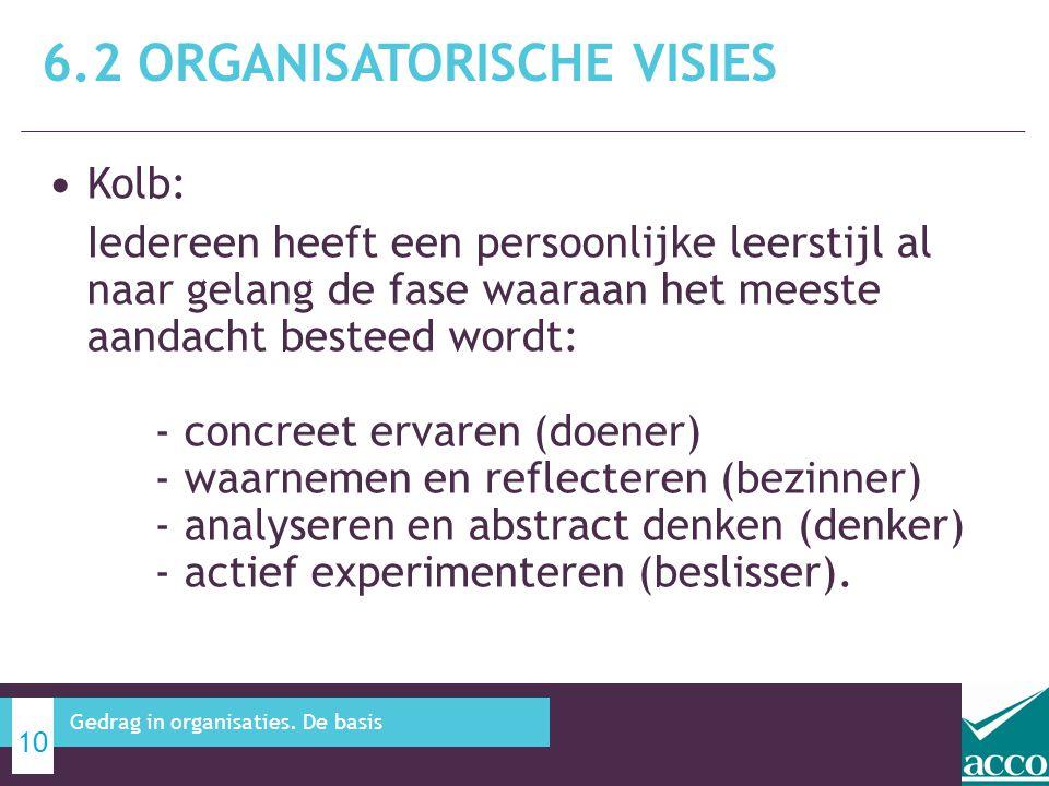 6.2 Organisatorische visies
