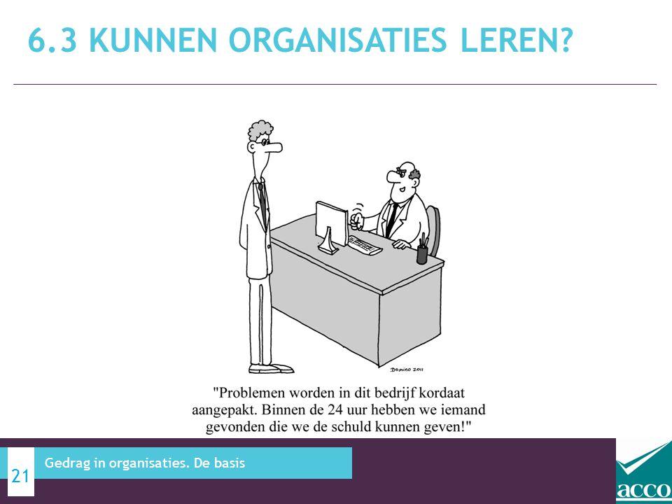 6.3 Kunnen organisaties leren