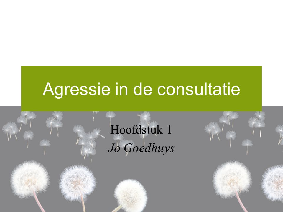 Agressie in de consultatie