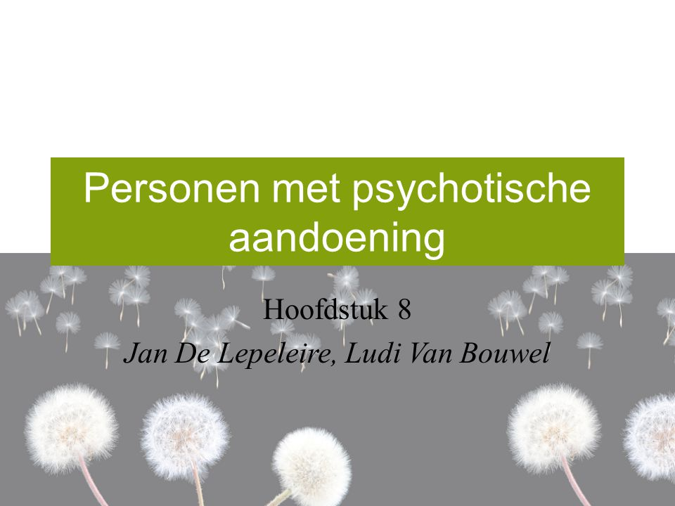 Personen met psychotische aandoening
