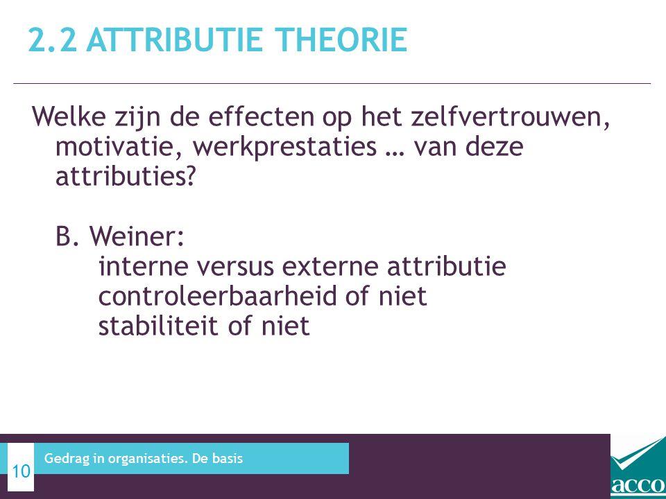 2.2 Attributie theorie