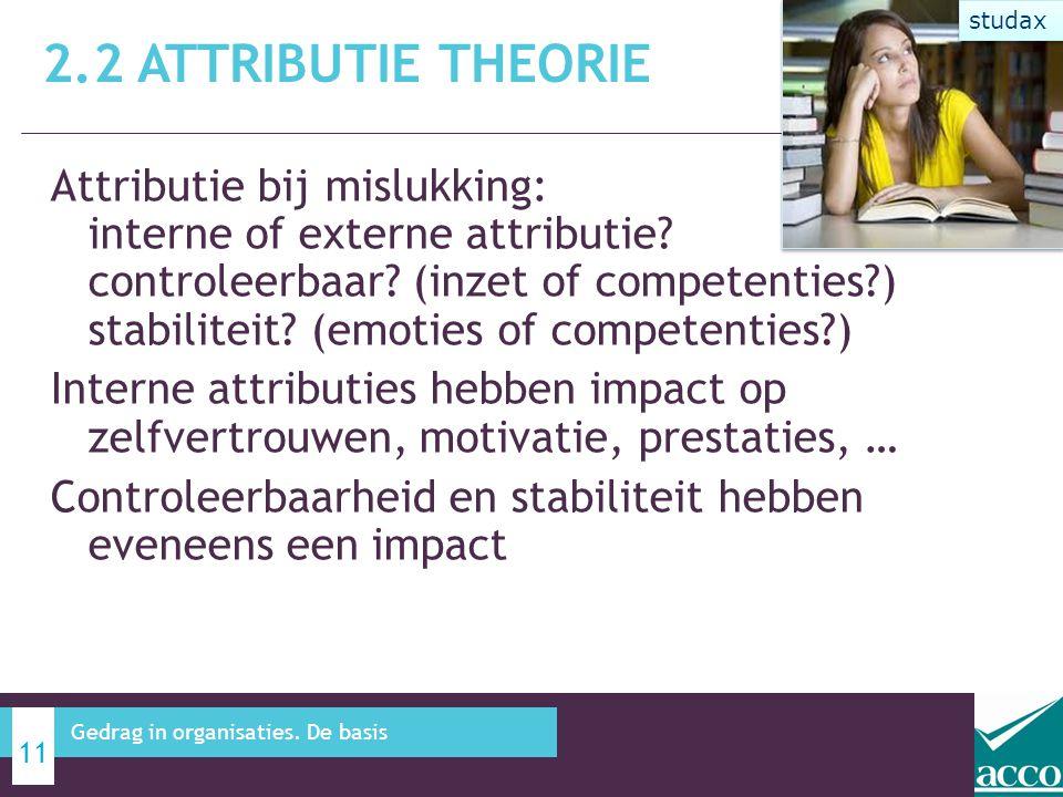 2.2 Attributie theorie studax.