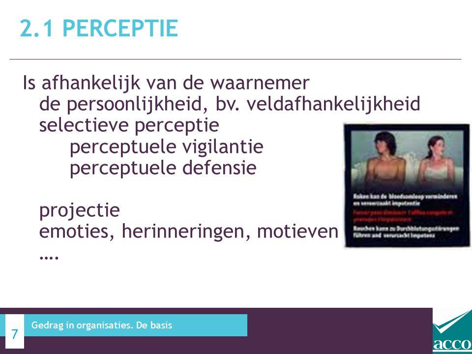 2.1 Perceptie