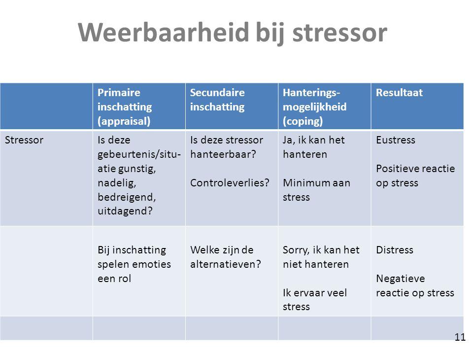 Weerbaarheid bij stressor