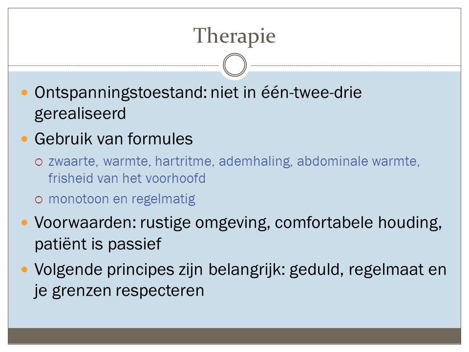 Therapie Ontspanningstoestand: niet in één-twee-drie gerealiseerd