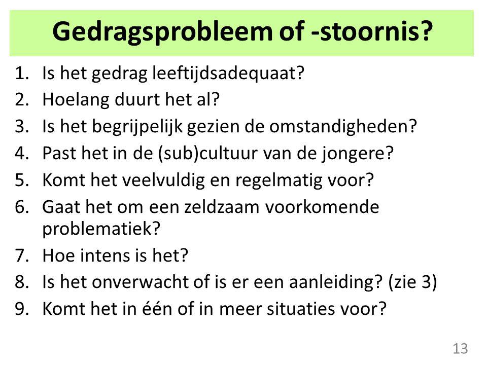 Gedragsprobleem of -stoornis