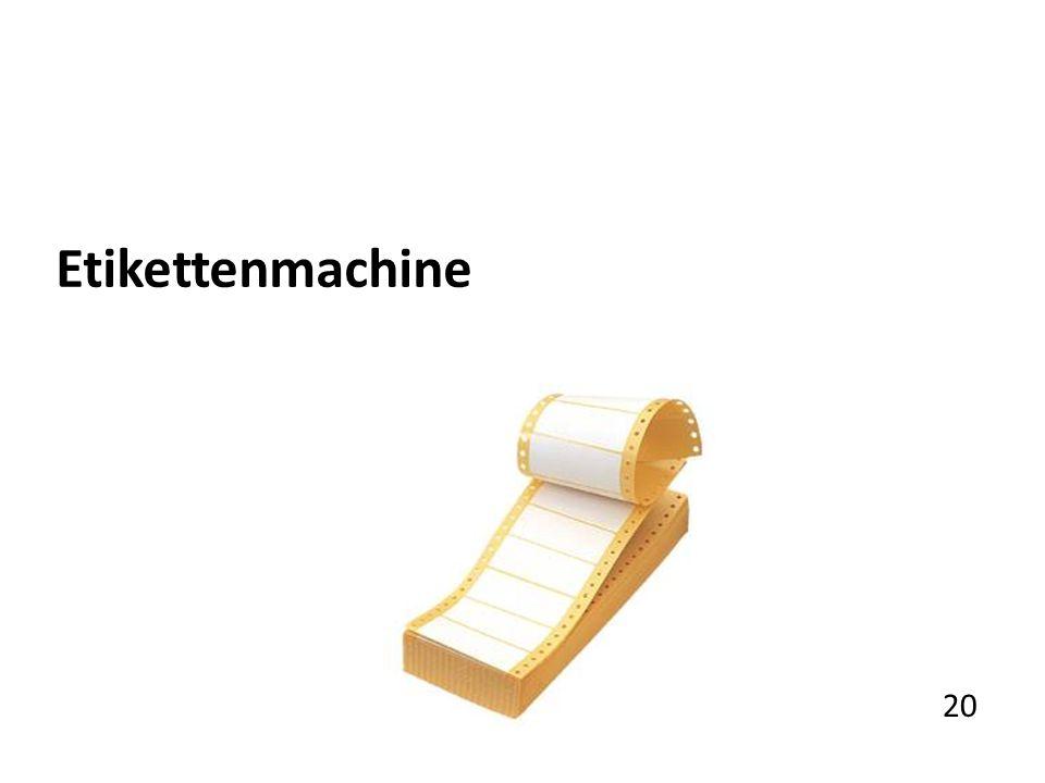 Etikettenmachine 20