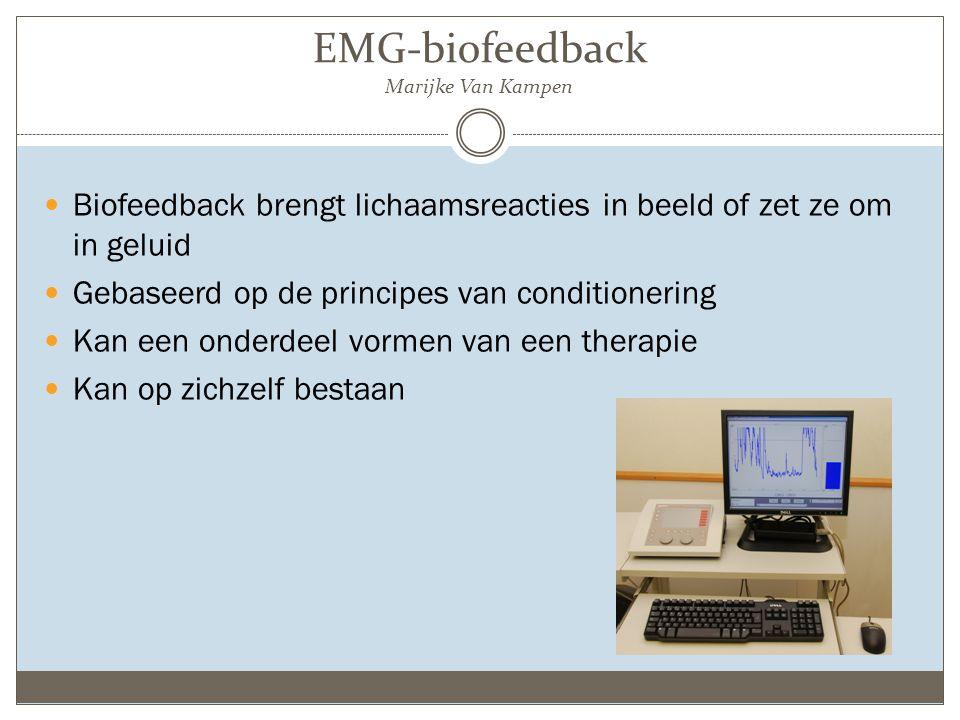 EMG-biofeedback Marijke Van Kampen