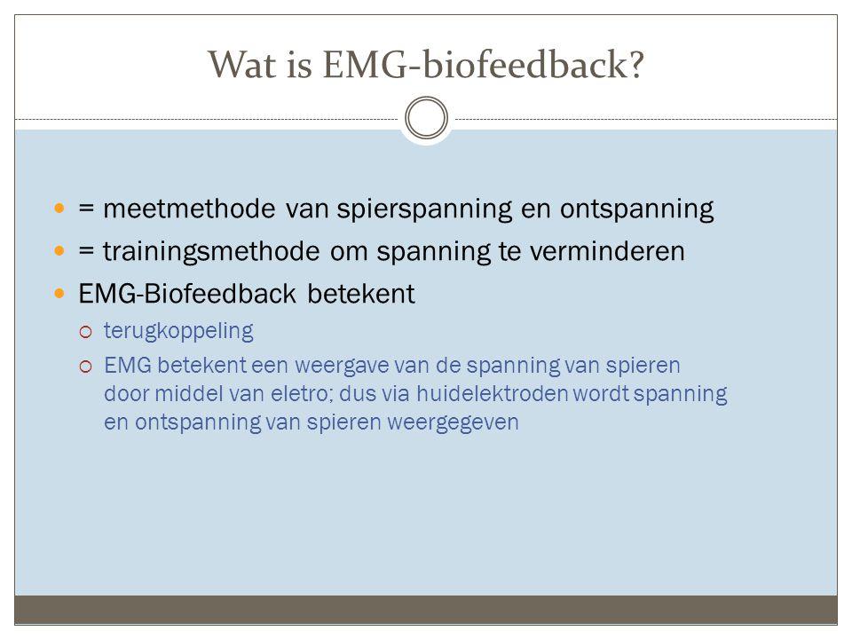 Wat is EMG-biofeedback