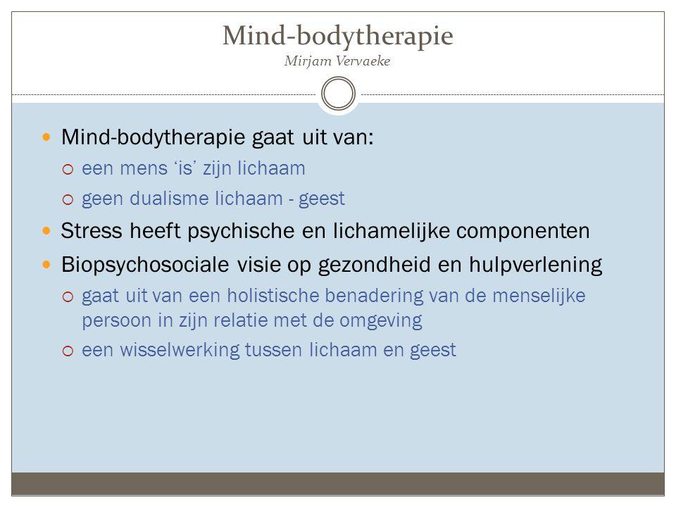 Mind-bodytherapie Mirjam Vervaeke