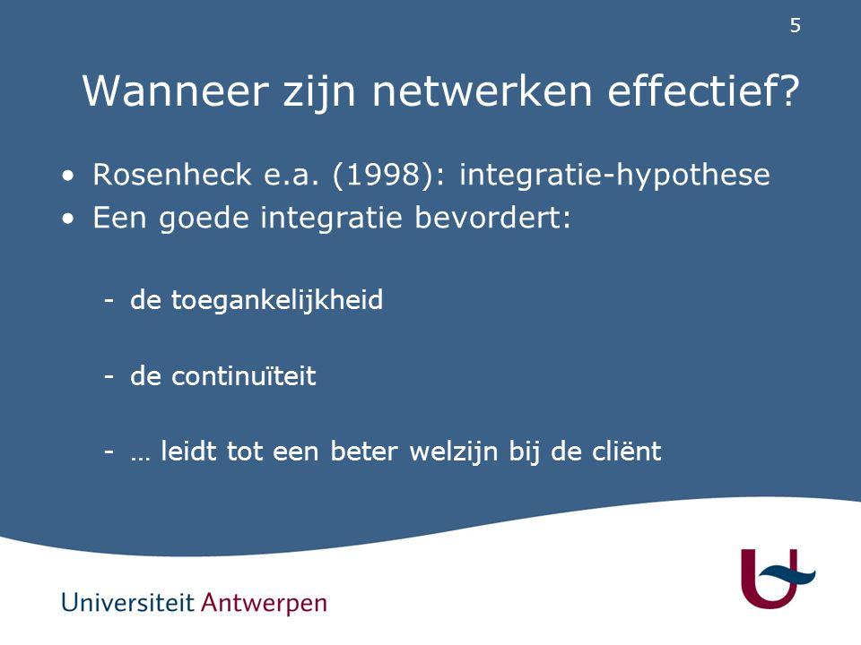 Wanneer zijn netwerken effectief