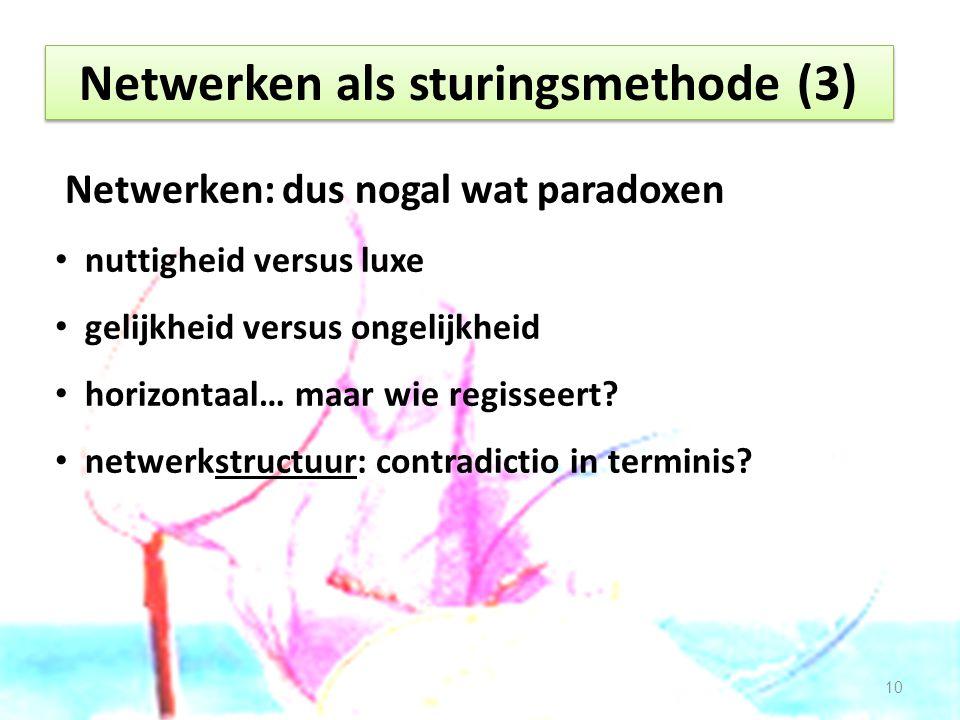 Netwerken als sturingsmethode (3)