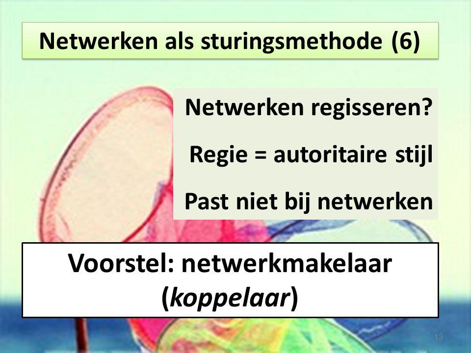 Voorstel: netwerkmakelaar (koppelaar)