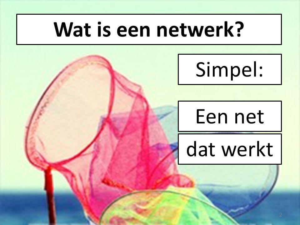 Wat is een netwerk Simpel: Een net dat werkt