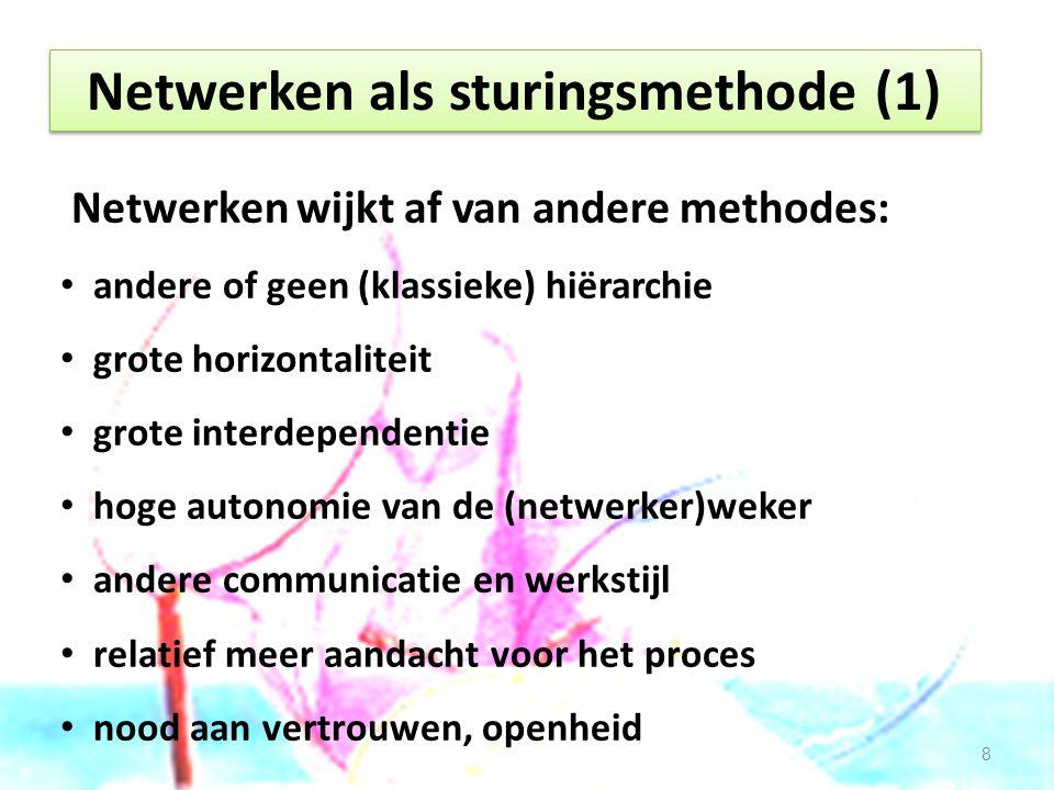 Netwerken als sturingsmethode (1)