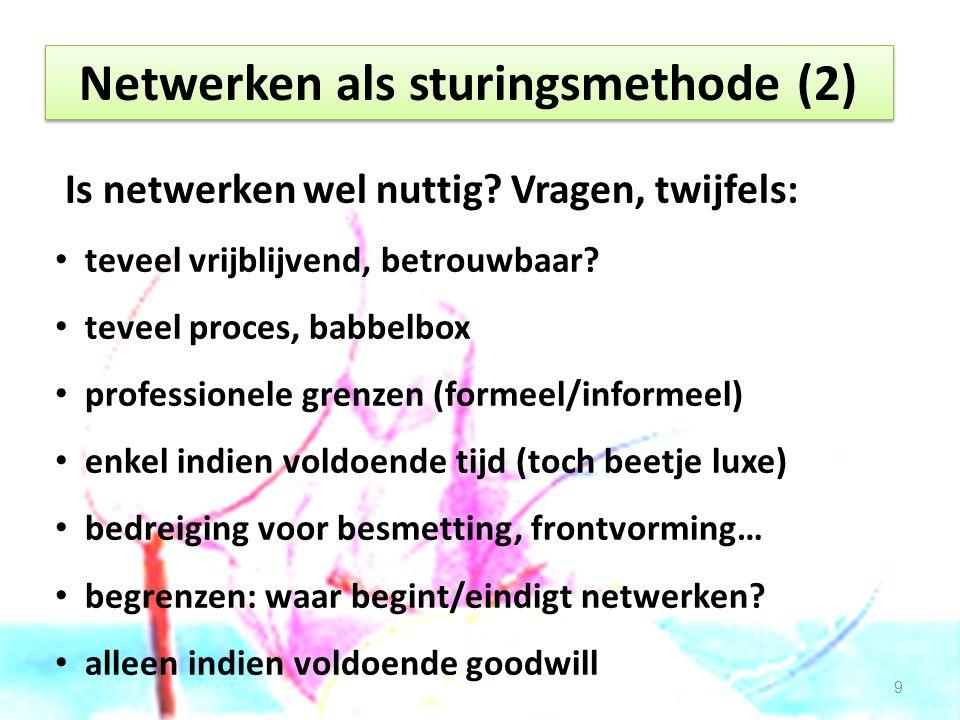 Netwerken als sturingsmethode (2)