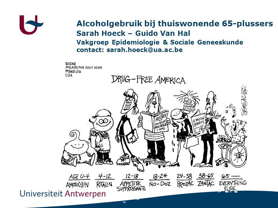 Alcoholgebruik bij thuiswonende 65-plussers