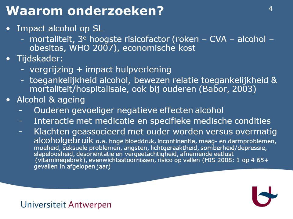 Waarom onderzoeken Impact alcohol op SL