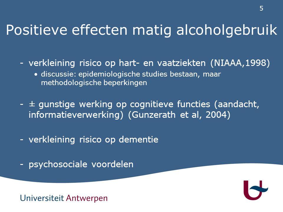 Positieve effecten matig alcoholgebruik