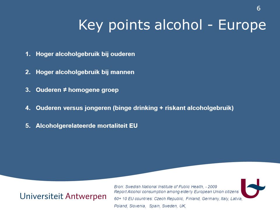 Key points alcohol - Europe