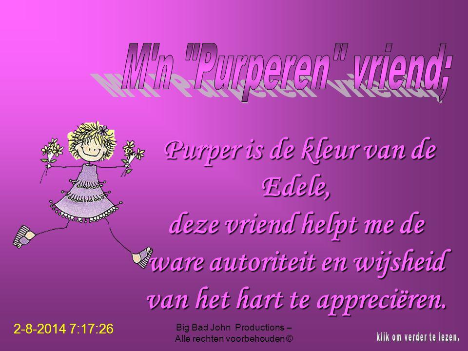 Purper is de kleur van de Edele,