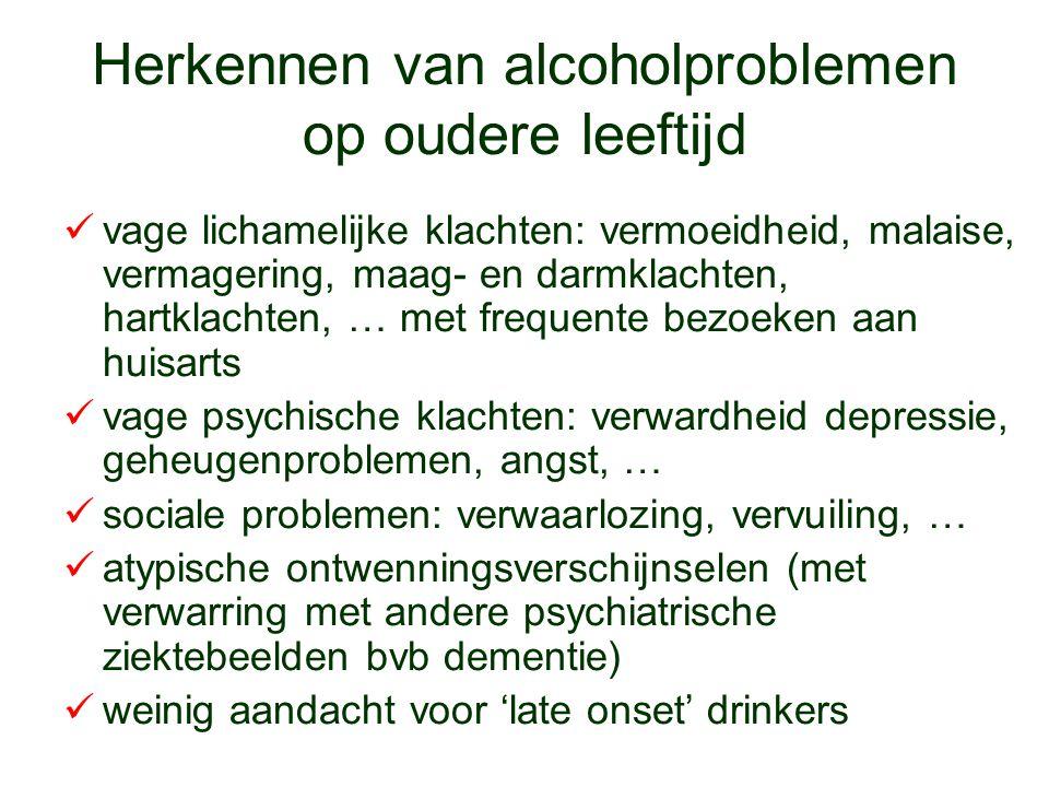 Herkennen van alcoholproblemen op oudere leeftijd
