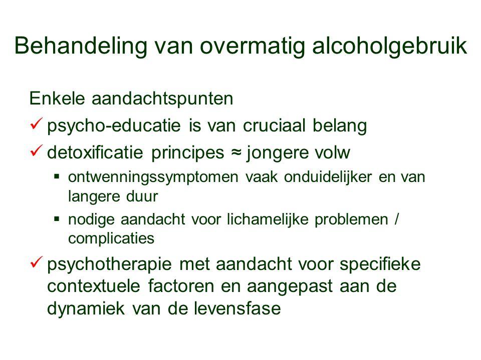 Behandeling van overmatig alcoholgebruik