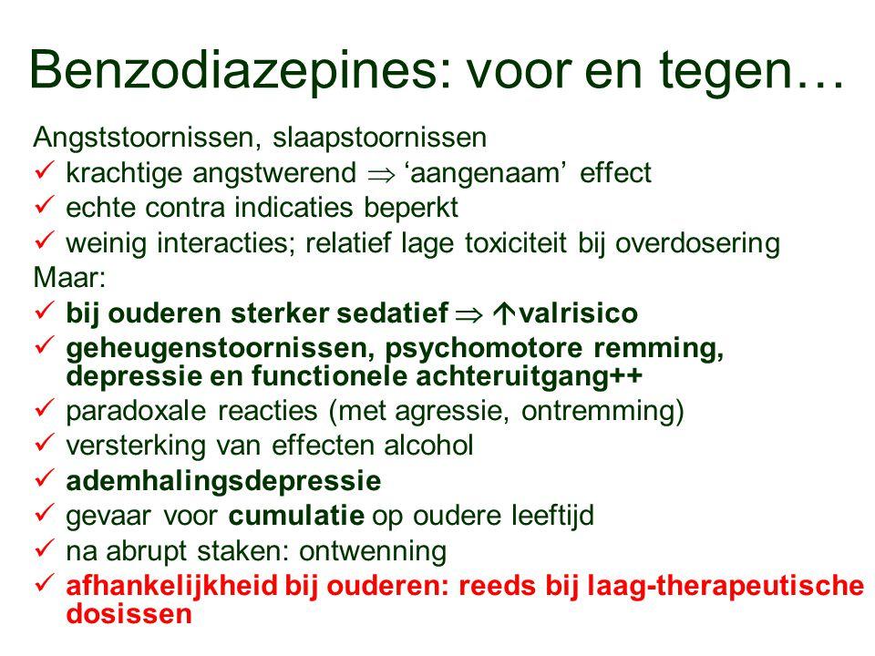 Benzodiazepines: voor en tegen…