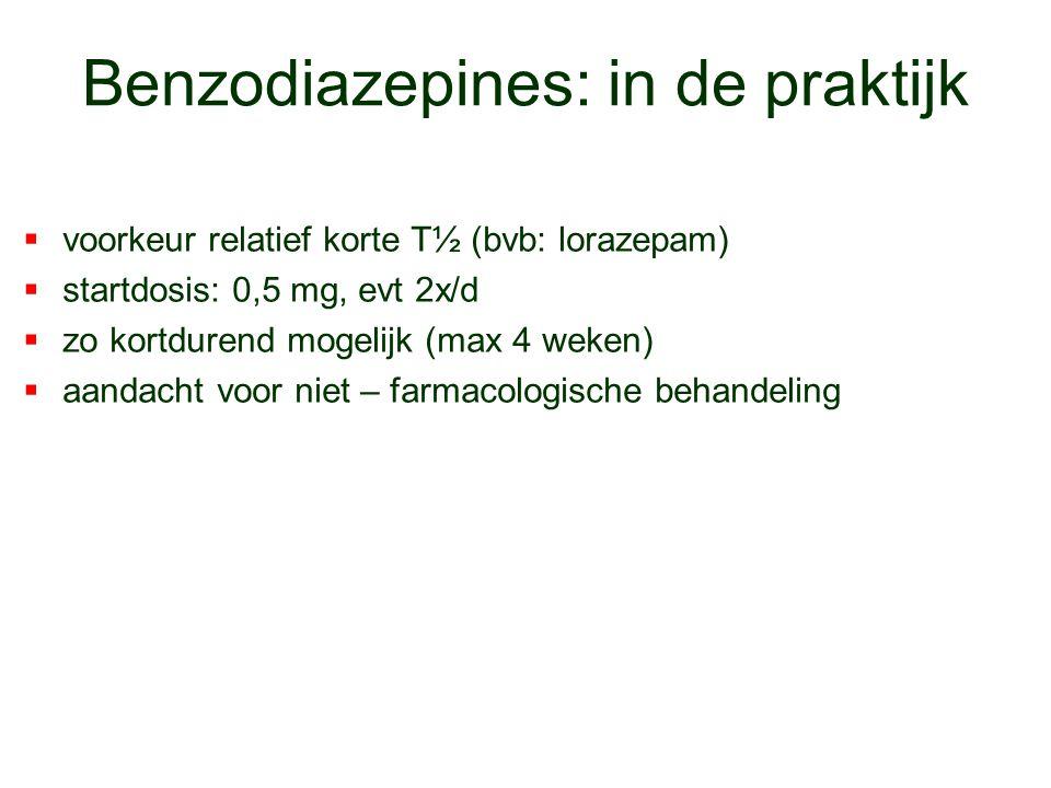 Benzodiazepines: in de praktijk