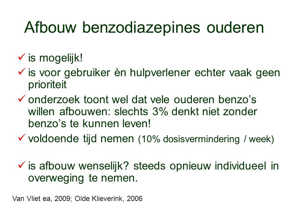 Afbouw benzodiazepines ouderen