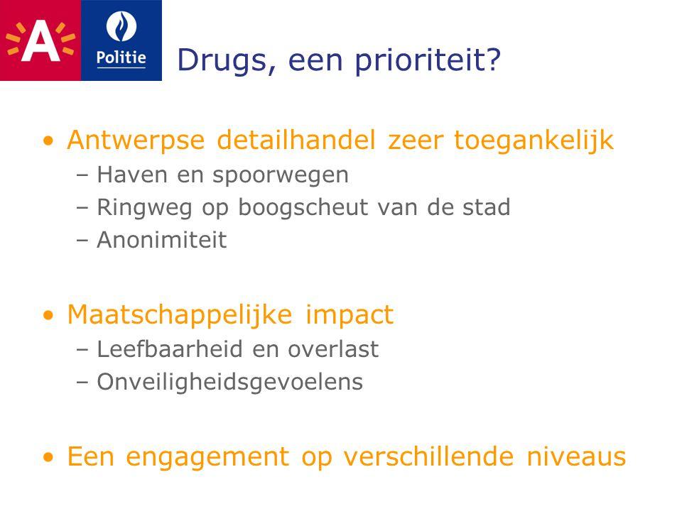 Drugs, een prioriteit Antwerpse detailhandel zeer toegankelijk