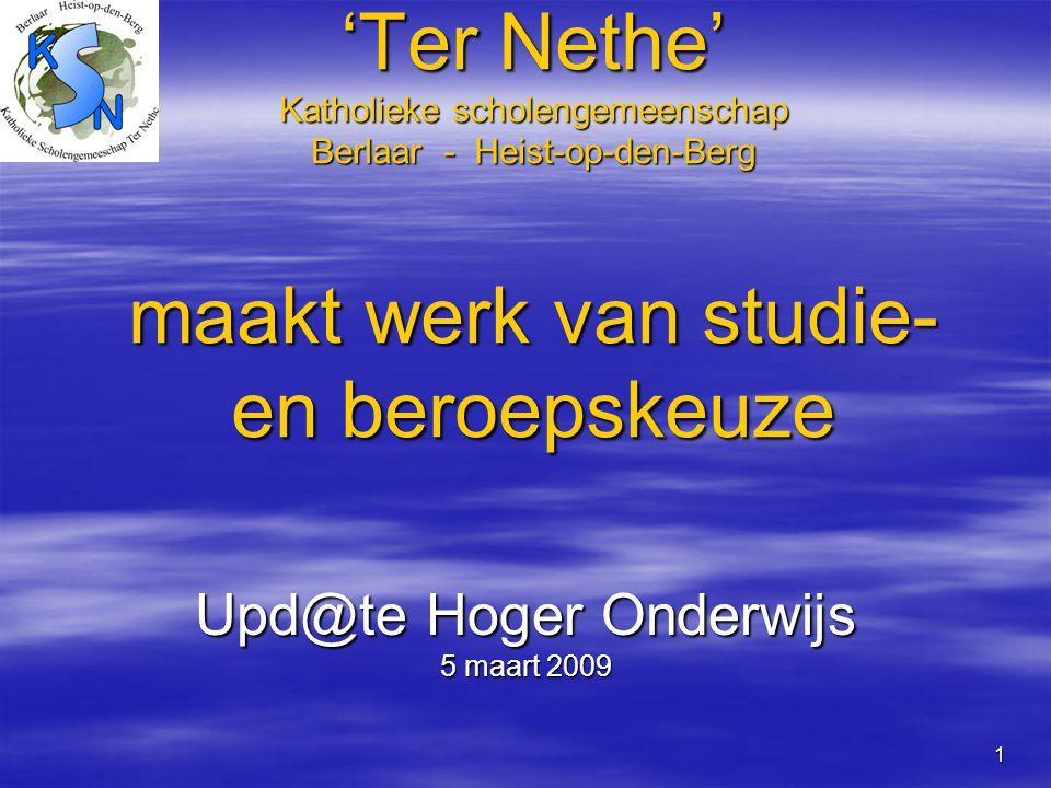 Upd@te Hoger Onderwijs 5 maart 2009
