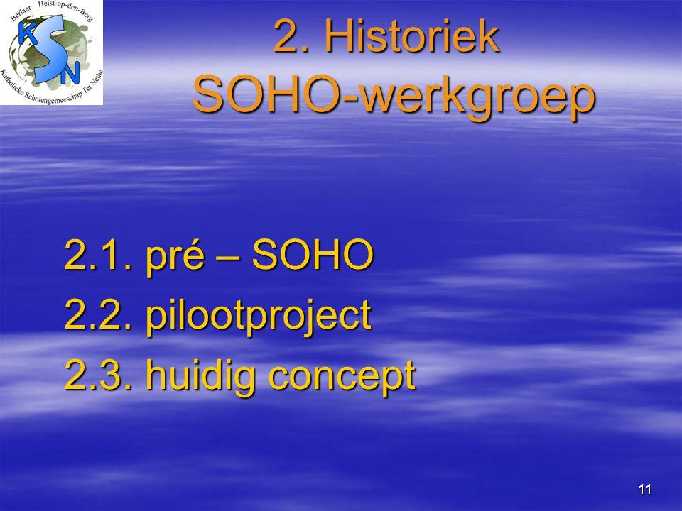 2. Historiek SOHO-werkgroep