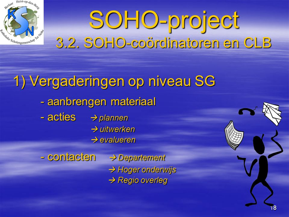 SOHO-project 3.2. SOHO-coördinatoren en CLB