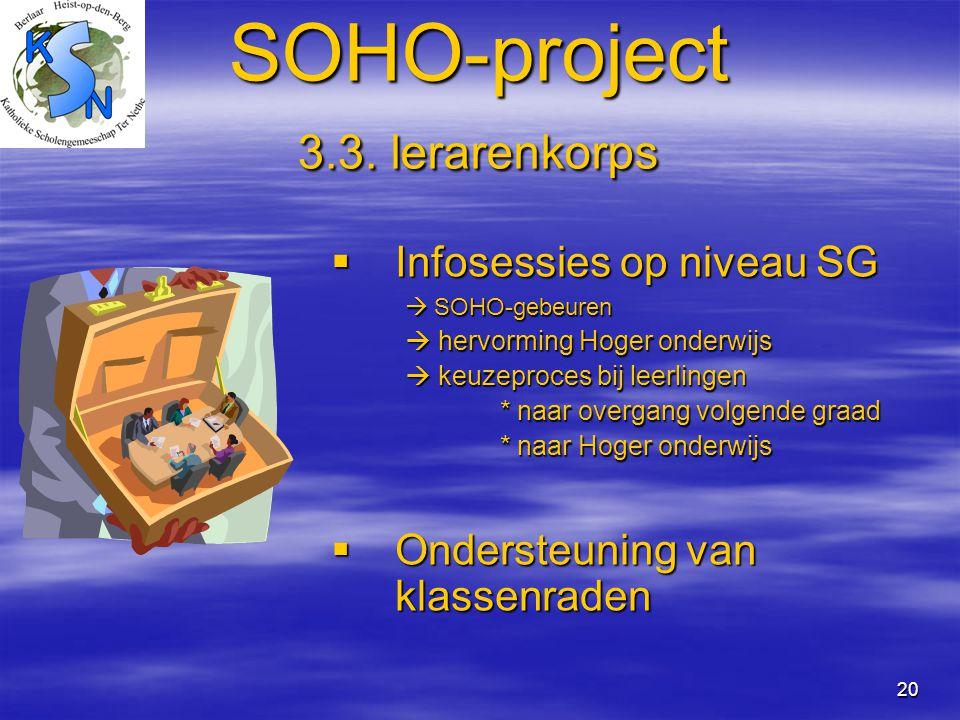 SOHO-project 3.3. lerarenkorps