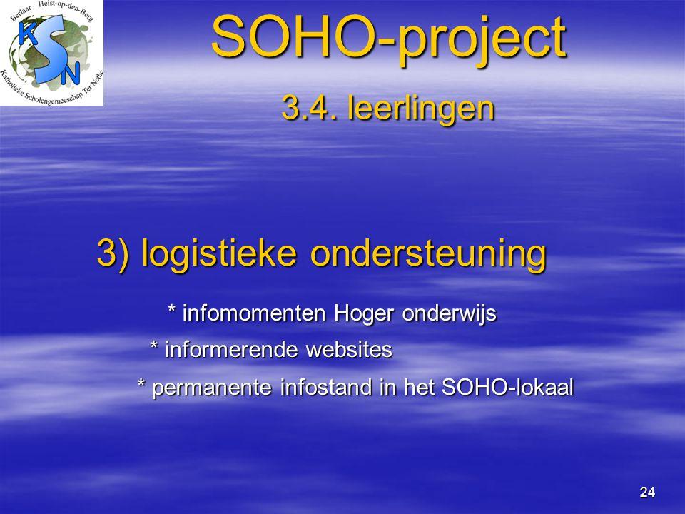 SOHO-project 3.4. leerlingen