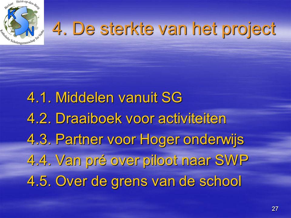 4. De sterkte van het project
