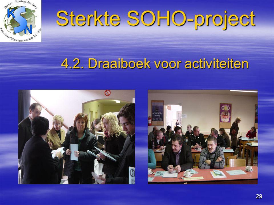 Sterkte SOHO-project 4.2. Draaiboek voor activiteiten