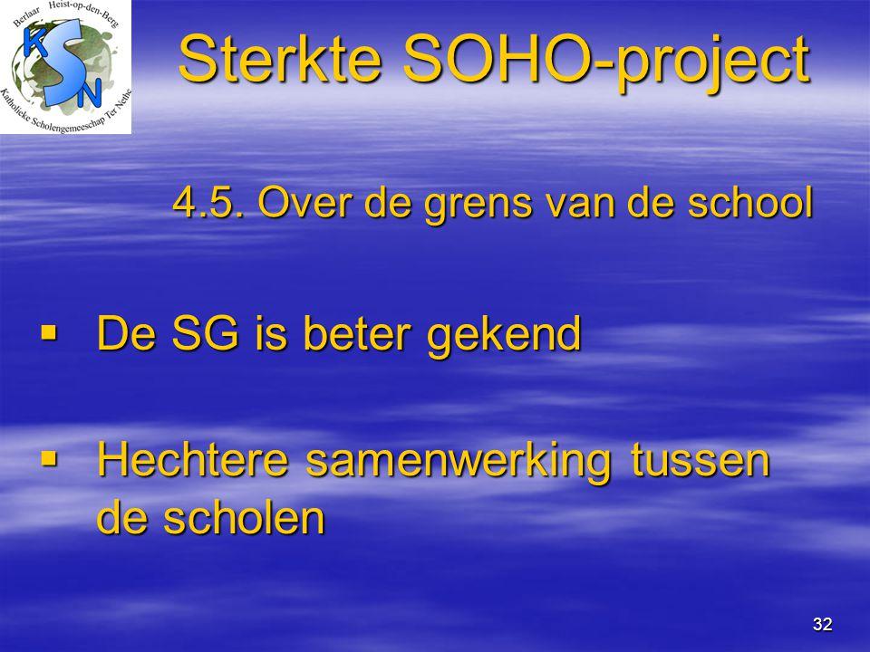 Sterkte SOHO-project 4.5. Over de grens van de school